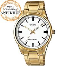 Đồng hồ nam dây kim loại Casio Anh Khuê MTP-V005G-7AUDF