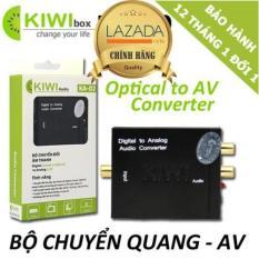 Bộ chuyển âm thanh KIWI BOX TV 4K quang optical sang audio AV ra amply KA-02