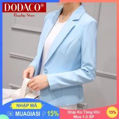 [Ship Ko Tăng Khi Mua 1-3 SP] – Áo vest nữ áo khoác nữ DODACO DDC1950 – 294RX (Xanh ngọc)