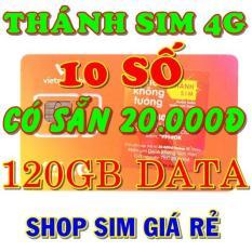 Thánh sim 4G Vietnamobile 10 số FREE 120Gb/tháng – Shop Sim Giá Rẻ – thanh sim gia sỉ