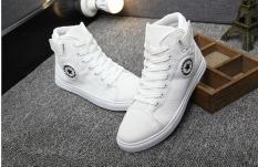 Hot trend 2018 giầy sneaker nam kiểu Hàn Quốc giầy nam cao cổ tăng chiều cao êm chân thoáng khí giá tốt Rammstein R36 màu, trắng -AL