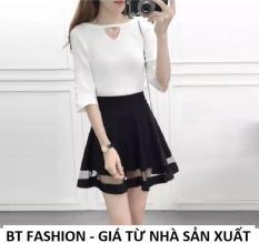 Chân Váy Xòe Lưng Thun Duyên Dáng Thời Trang Hàn Quốc – BT Fashion (VA004- Phối Lưới)
