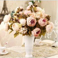 Hoa giả – hoa mẫu đơn phong cách Châu Âu, hoa giả để bàn, hoa giả trang trí nhà cửa, studio chụp ảnh, phim trường chụp ảnh