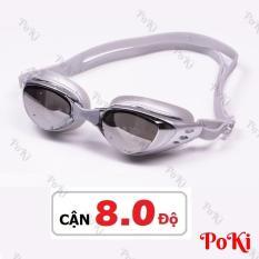 Kính bơi CẬN 1.5 – 8.0 độ SLIVER thời trang 6200, chống UV, chống HẤP HƠI, kính bơi cao cấp – POKI