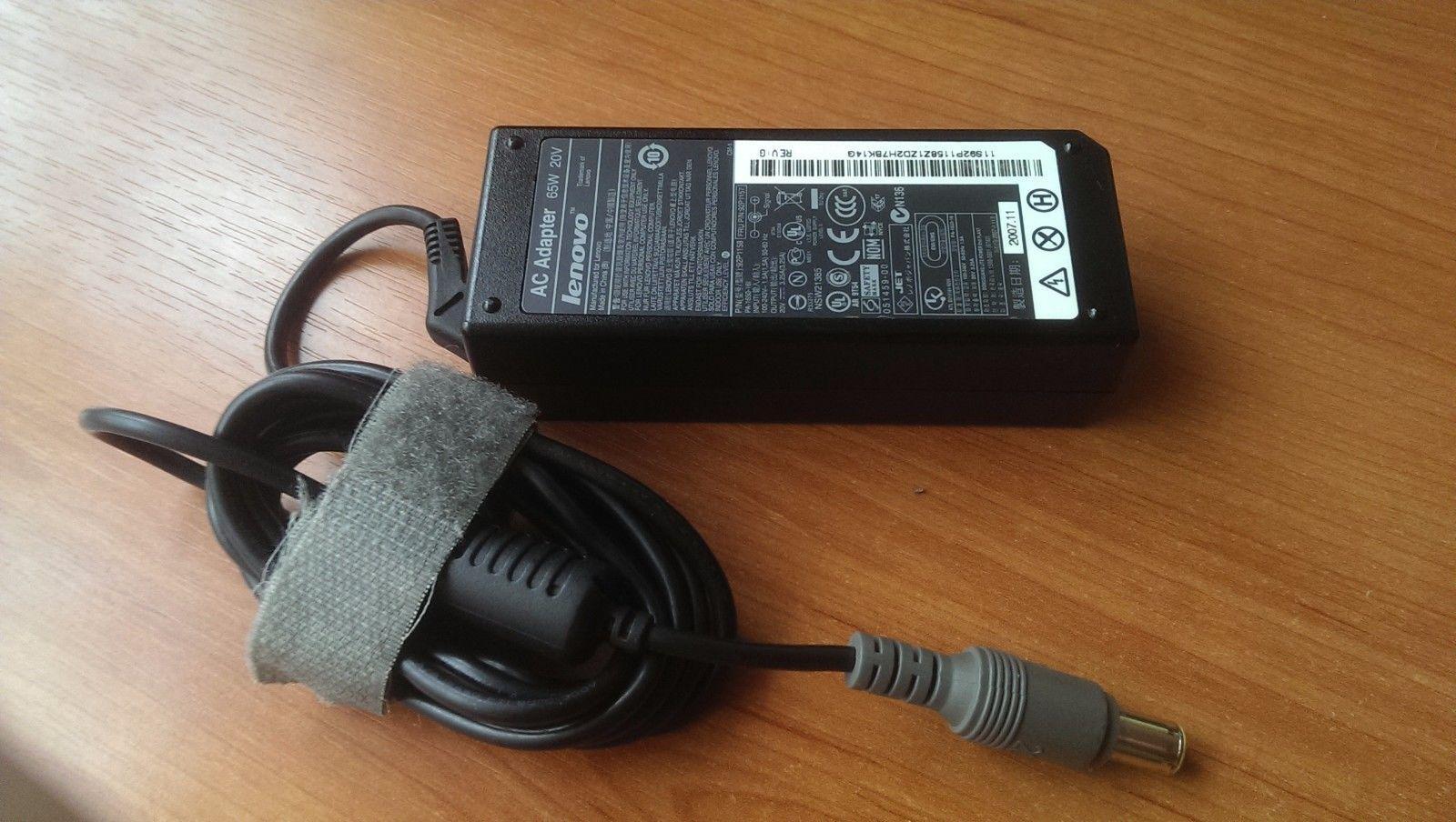 Sạc laptop lenovo 20V-3.25A Đầu Kim Tròn