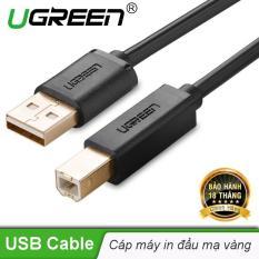 Dây máy in mạ vàng USB 2.0 chuẩn A đực sang chuẩn B đực dài 5M UGREEN US135 10352 – Hãng phân phối chính thức