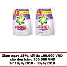 Bộ 2 túi nước giặt Ariel Matic Color gel đậm đặc 2.4kg