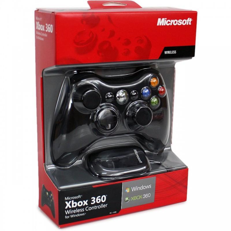 Tay cầm chơi game Xbox 360 có giây (Đen)