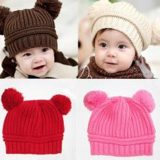 Mũ len, mũ giữ ấm, mũ ấm cho bé hai cục bông siêu đáng yêu + Tặng thẻ tích điểm nhận quà tại các gian hàng