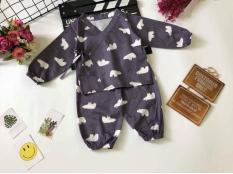 Bộ Pijama kiểu Nhật dài tay cho bé trai/bé gái (hay còn gọi là yukata)