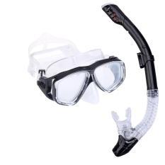 Bộ kính lặn Ống thở, mắt KÍNH CƯỜNG LỰC, ống thở ngăn nước cao cấp POPO Collection
