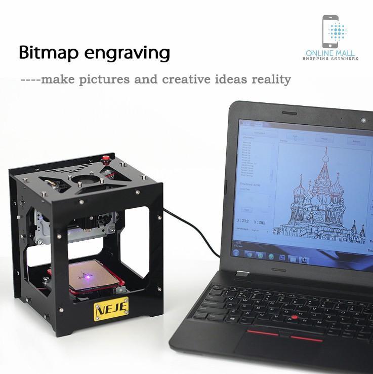 Đánh giá Máy khắc laser mini 1000mW NEJE DK-8-KZ Tại Online Mall