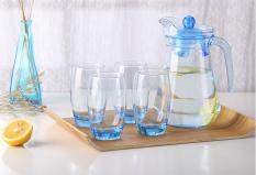 Bộ 7 món bình và cốc uông nước thủy tinh cao cấp GA1.3