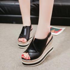 Giày đế xuồng nữ Hàn Quốc cao 10 phân S1075 (Đen) bền, đẹp, thời trang – SHOPMAIKA