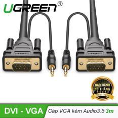 Cáp VGA có hỗ trợ jack âm thanh 3.5mm Dài 3m UGREEN VG102 11627 – Hãng phân phối chính thức