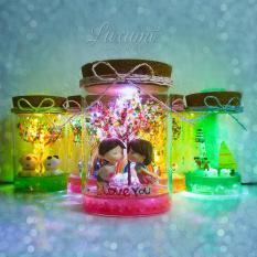 Quà tặng handmade – Lọ pha lê tình yêu có gắn đèn phát sáng – Quà tặng người yêu – Quà tặng bạn gái – Quà sinh nhật – Quà tặng độc đáo – Quà Valentine