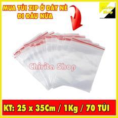 1KG Túi Zip sọc đỏ – Túi zipper đựng thực phẩm chất lượng LOẠI 1 – Size 25x35cm – Chirita Shop