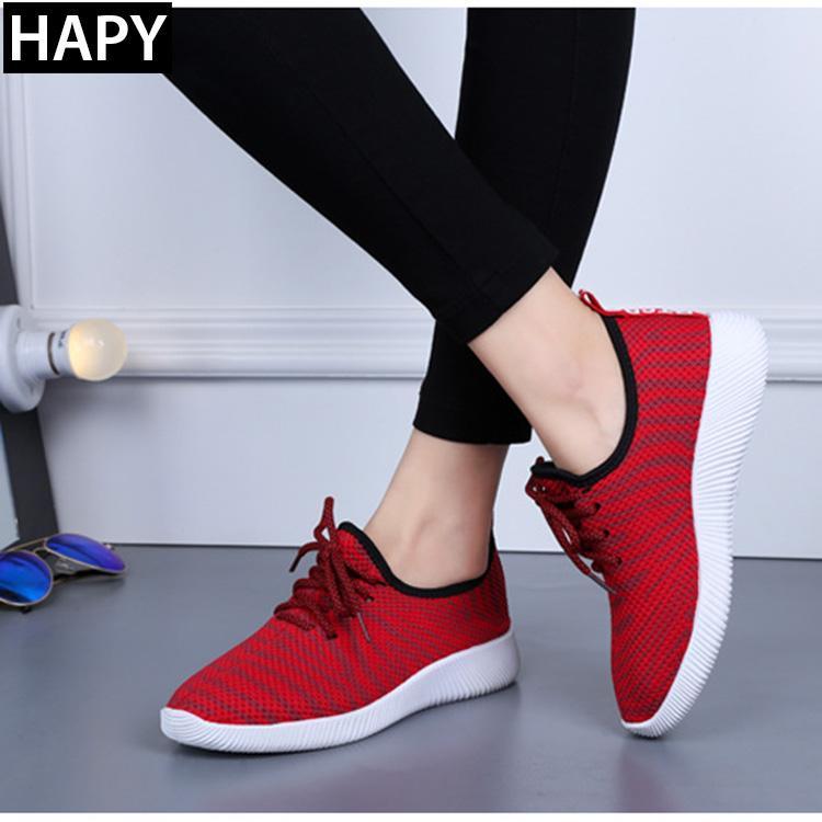 Giày Thể Thao Nữ Cao Cấp HAPY - BT101 ( Đen, Đỏ)