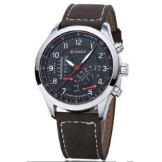Đồng hồ dây da nam Curren CR4403K mặt đen