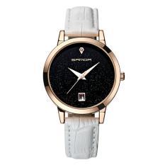 Đồng hồ nữ dây da cao cấp SANDA JAPAN MOVT SA194 – tặng kèm vòng tay xin xắn