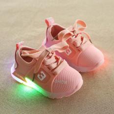 Giầy Thể Thao Có Đèn LED Hình Số 3 Cho Bé Trai Và Bé Gái 1-5 Tuổi
