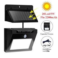 Đèn led năng lượng mặt trời 28 Led/5W, có thể tách rời pin và đèn cảm biến hồng ngoại