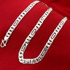 Dây chuyền nam 10,8 chỉ bạc ta cao cấp – DCNA17- trang sức Bạc QTJ, vòng cổ nam bạc dài 55cm (bạc)