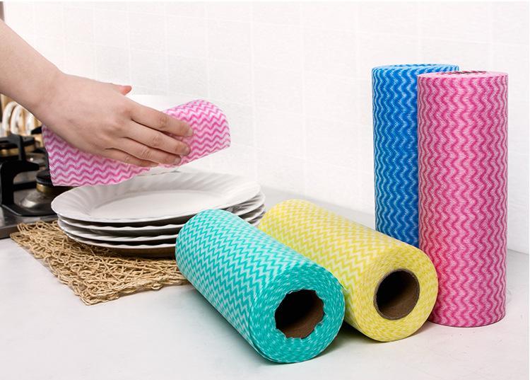 cuộn 80 tờ giấy vải lau đa năng loại 1 hàng nội địa
