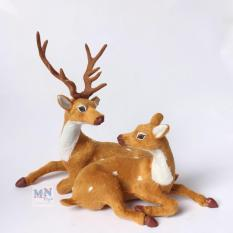 Hươu sao đôi cao 25cm trang trí Giáng sinh – Noel