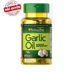 Dầu tỏi tăng cường hệ miễn dịch, hỗ trợ phòng ngừa cảm cúm, giảm cholesterol Puritan's Pride Garlic Oil 1000mg 100 viên HSD tháng 08/2020