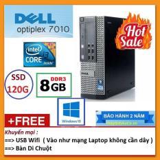 Thùng Dell optiplex 7010 ( Core i7 2600 / 8G / SSD 120G ), Tặng USB Wifi , Bàn di chuột – Bảo hành 24 tháng – Hàng Nhập Khẩu
