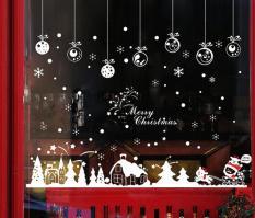 Decal dán tường Noel, giáng sinh, Christmas ngôi làng phủ tuyết 1 – XH0731C