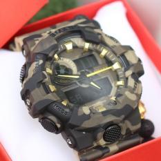 Đồng hồ thể thao nam -SMAEL1642 camo đen vàng- H006
