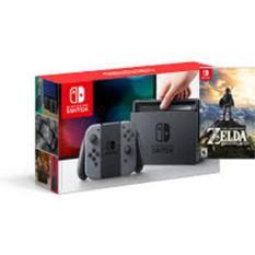 Máy Chơi Game Nintendo Switch With Gray Joy-Con + Zelda: Breath of the Wild tặng miếng dáng cường lực .