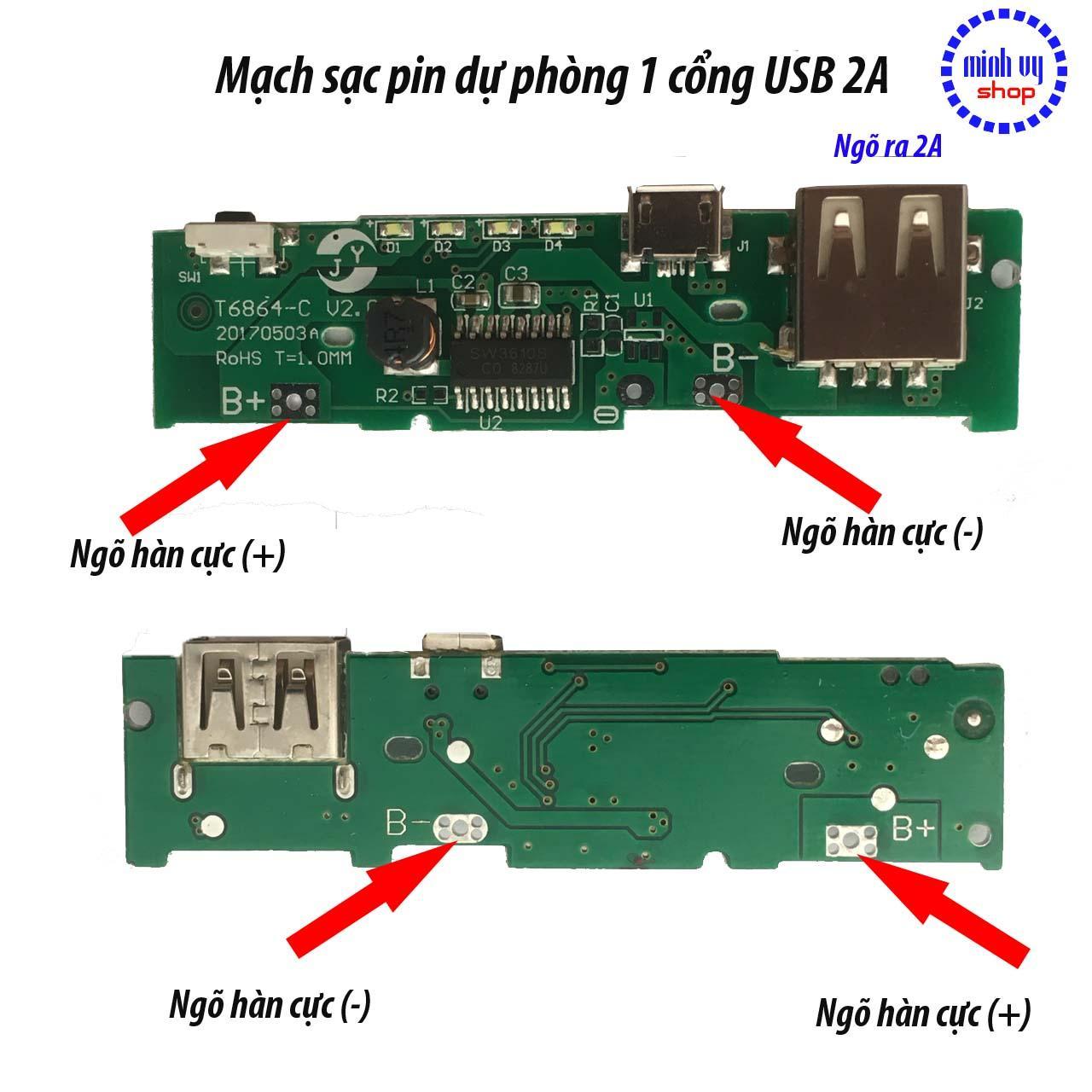 Mua Mạch Sạc Pin Dự Phòng 1 Cổng USB 2A -tặng kèm box 4 ở đâu tốt?