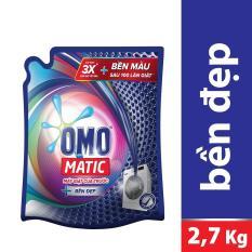 Nước giặt Omo Matic Bền Đẹp cửa trước túi 2.7kg