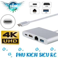 Cáp USB Type C To HDMI, Lan, Hub USB 3.0