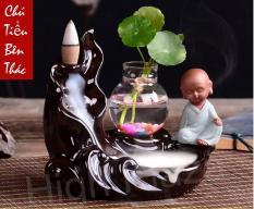 Thác Khói Trầm Hương – Chú Tiểu Bên Thác + 20 nụ trầm tặng kèm lá xanh