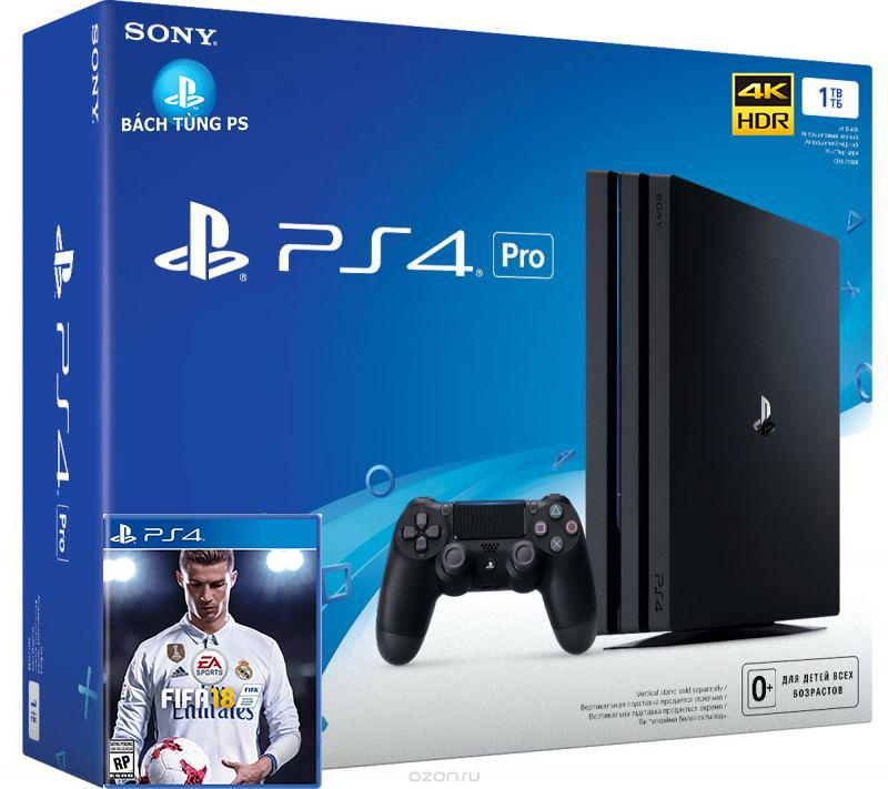 Bộ máy chơi game Sony Ps4 Pro 1T +Fifa 2018