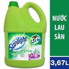 Nước lau sàn Sunlight Cif hương hoa Hạ can 3,8kg