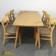 Bộ bàn ăn MG tự nhiên 6 ghế