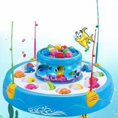 Bộ đồ chơi câu cá nghe nhạc 2 tầng 4 cần câu cho bé yêu thỏa sức vui chơi