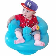 Ghế hơi tập ăn tập ngồi bơm tay tiện dụng cho bé BenHome (Xanh dương)