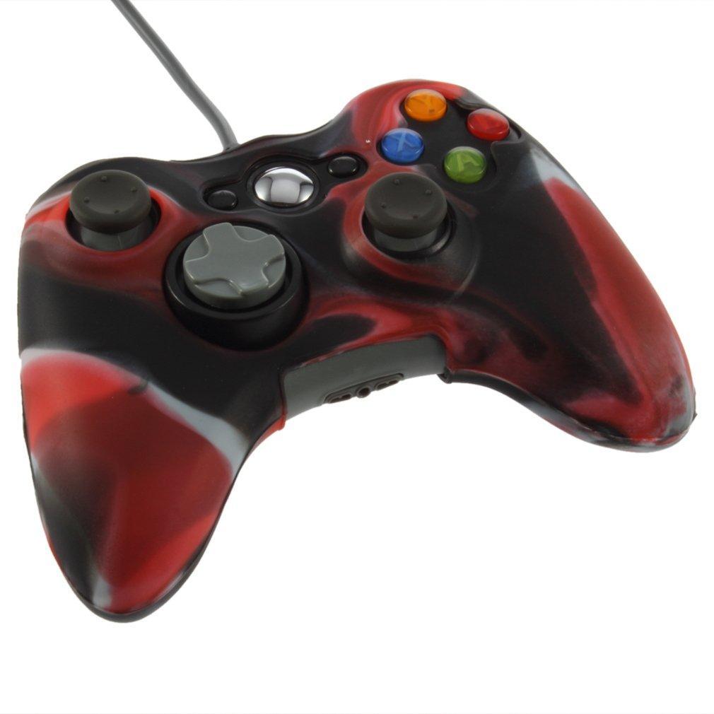 Quân Ngụy Trang Ốp Lưng Silicon Lưng Da Dành Cho Xbox 360 Bộ Điều Khiển Không Dây-quốc tế