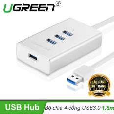 Bộ chia USB 3.0 sang 4 cổng USB 3.0 vỏ hợp kim nhôm dài 1.5M chính hãng UGREEN CR126 30236 – Hãng phân phối chính thức
