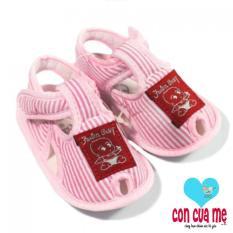 Farlin – Giày vải tập đi BF-471 cho bé (Kẻ hồng)