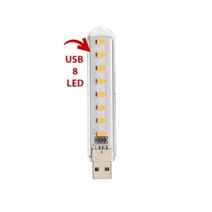 Đèn Led Cổng USB 8 Bóng