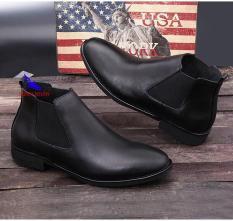 Giày cao cổ nam da bò thời trang (Chealse Boot) CC-01