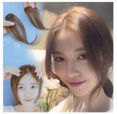 [Màu Đen ]TÓC MÁI MAI GIẢ 1 bên Basic Style Hàn Quốc