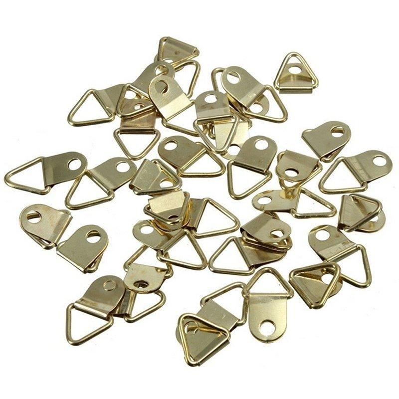 20 móc treo tranh vòng chữ D hình tam giác chịu nặng kèm vít khung ảnh